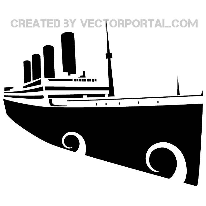 660x660 Titanic Vector Image