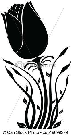 248x470 Illustration Of Flower Silhouette Vectors Illustration