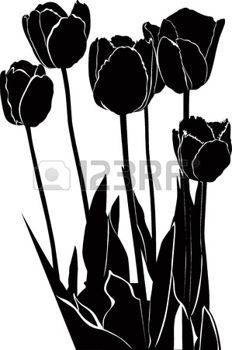 232x350 Tulip Silhouette Tattoos, Patterns, Prints Amp Designs
