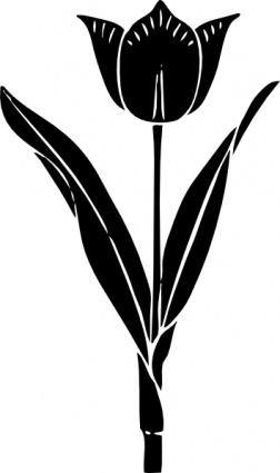 252x425 Tulip Silhouette Clip Art Vector, Free Vectors