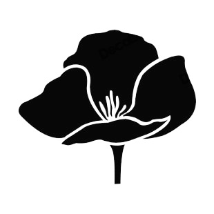 310x310 Tulip Silhouette Plants Decals, Decal Sticker