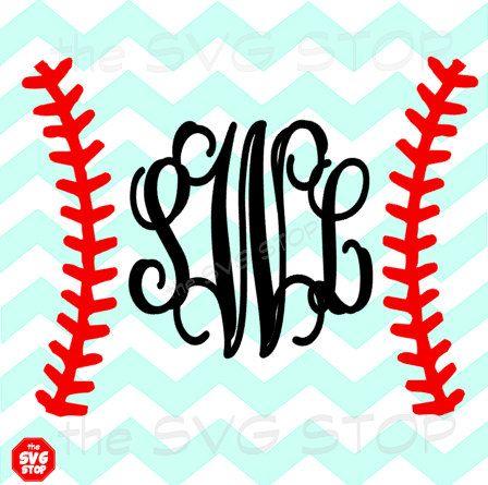 448x445 Baseball Monogram Design Svg And Studio Files For Cricut
