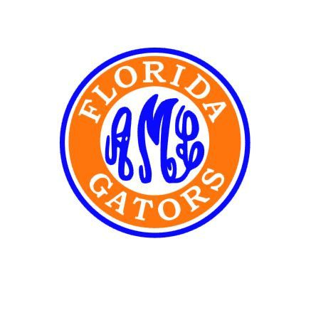 444x436 Florida Gators Monogram Instant Download Cut File