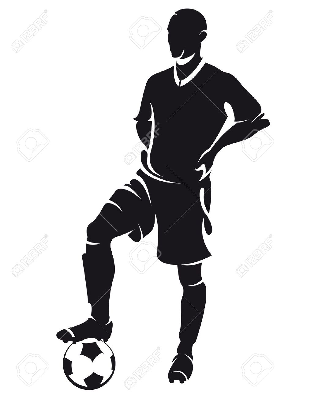 1039x1300 Man Holding Soccer Ball Silhouette