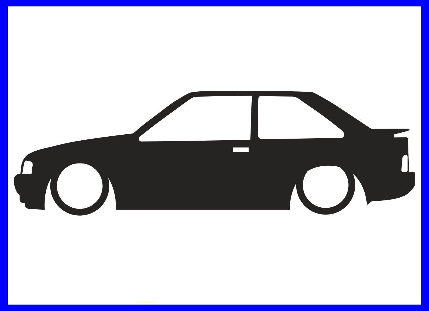 1500x1086 1x Low Ford Escort Mk4 Rs Turbo Xr3i Outline Silhouette Sticker