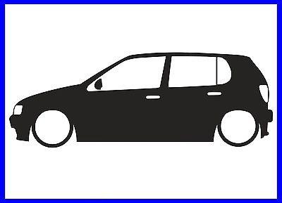 400x289 Mk3 Vw Golf Silhouette Decal Sticker