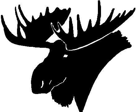 439x361 Moose Head Outline Svg Deer Svg Antler Svg Turkey Svg Svg Reindeer