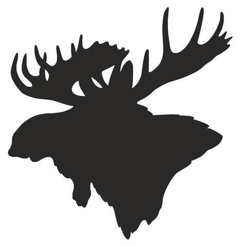 471x480 Moose Head Silhouette Decal Sticker