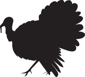 300x272 Turkey Clipart Silhouette