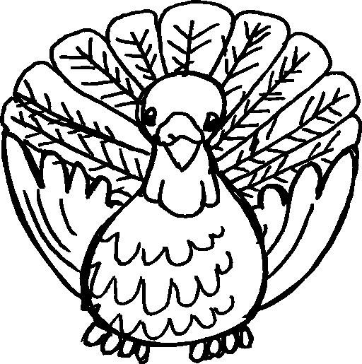 512x515 Cartoon Turkey Clipart Outline Clipart I2clipart