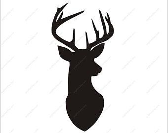 340x270 Deer Head Dxf Etsy