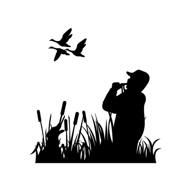 Turkey Hunter Silhouette