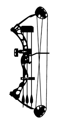 251x480 Compound Bow Decal Sticker