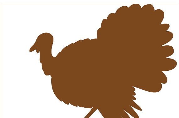 570x377 Disposable Brown Turkey Silhouette Placemats Set Of 12