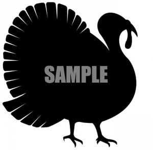 300x294 Free Turkey Clip Art Turkey Silhouette