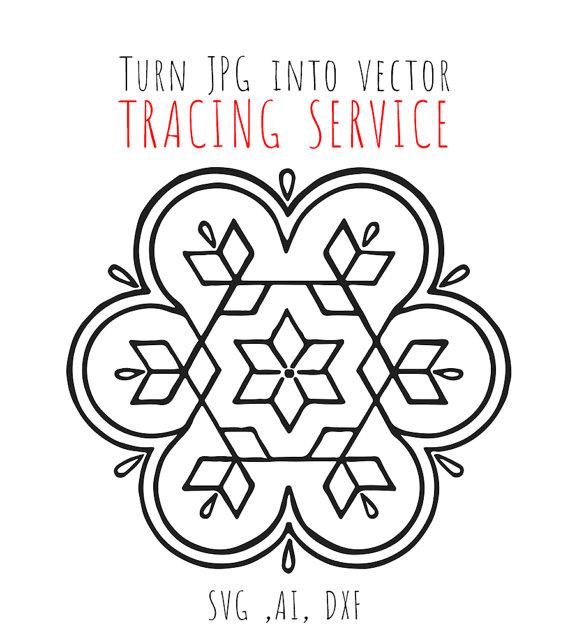 570x638 Tracing Service Turn Any Jpg Into Vector File, Custom Digital File