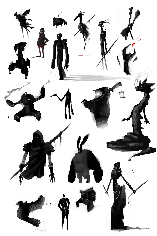 2000x3000 Character Silhouette Concept Josh M Art