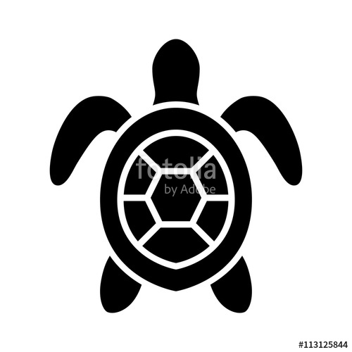 500x500 Sea Turtle Marine Turtle Top View Flat Icon For Nature Apps