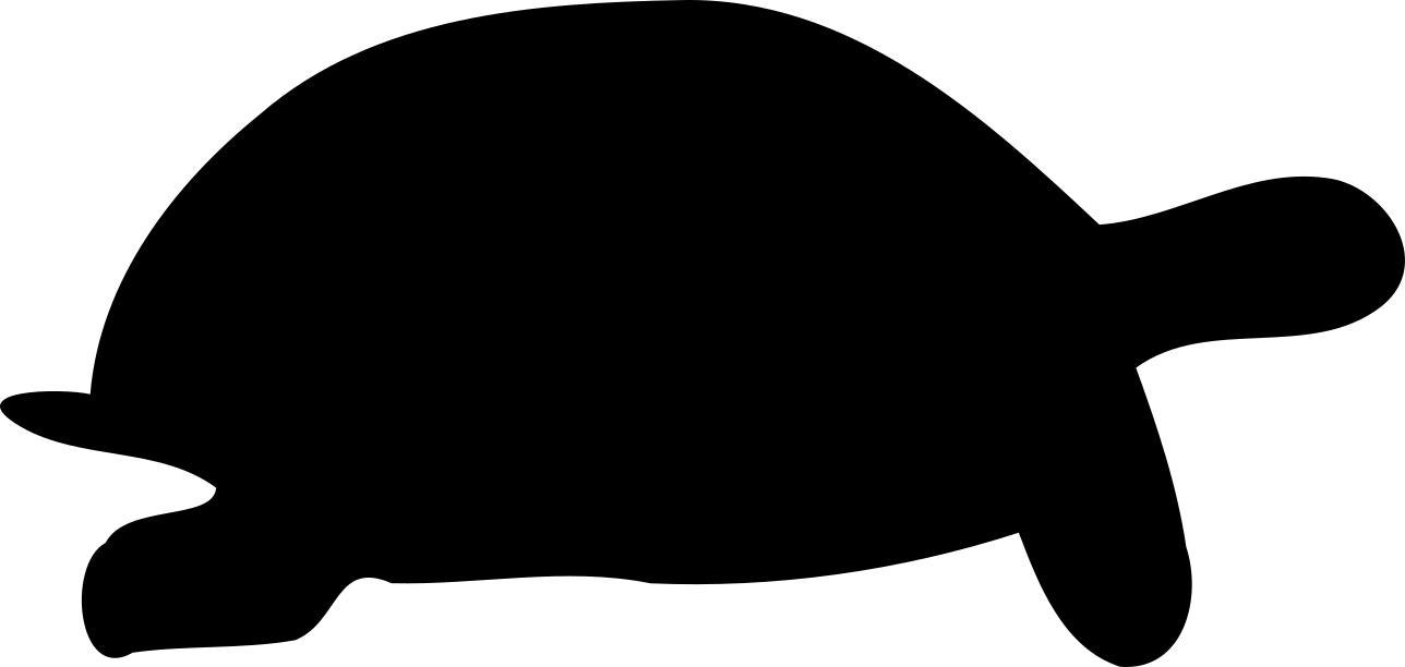 1288x612 Tortoise Silhouette Clipart