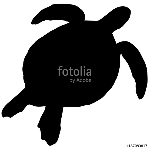 500x500 Turtle Silhouette Vector Graphics Stock Image And Royalty Free
