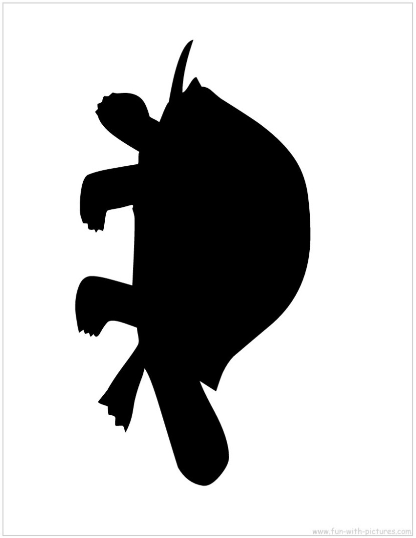 830x1074 Turtle Silhouette Clipart