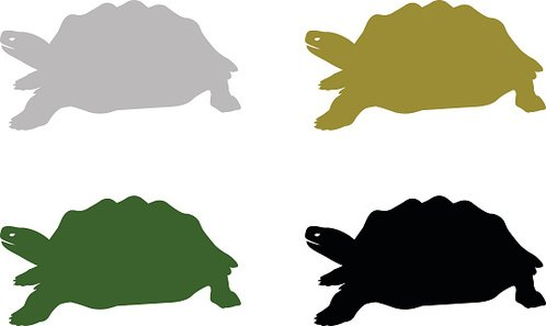 498x297 Turtle Silhouette Premium Clipart