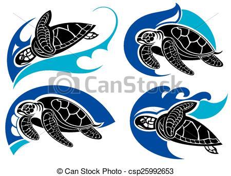 450x344 Sea Turtle Summer Symbols. Summer Symbols.sea Animals Clipart