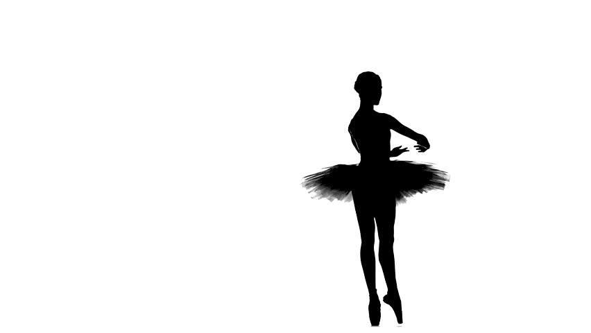 852x480 Graceful Ballerina Doing A Workout In The Classroom. Smoke, Fog