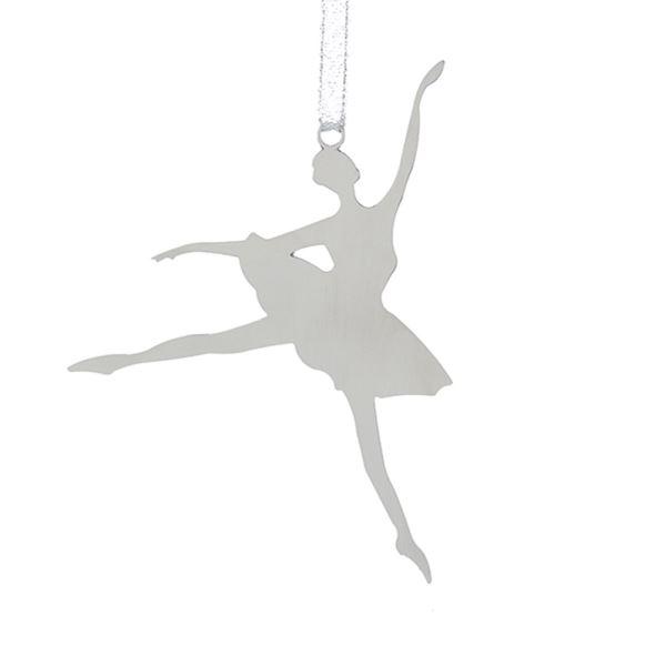 599x600 Metal Silhouette Ballerina Ornament Kurt S. Adler