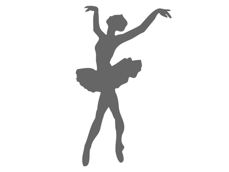 800x600 Ballerina Tutu Stencil