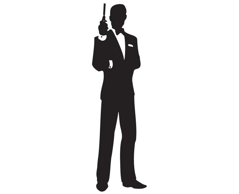 769x622 James Bond Silhouette Clipart