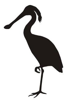 221x330 Spoonbill Bird Silhouette Decal Sticker