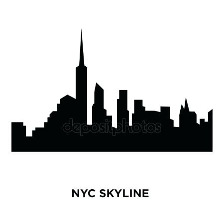 450x450 Nyc Skyline Silhouette New City Skyline Silhouette Vector Image