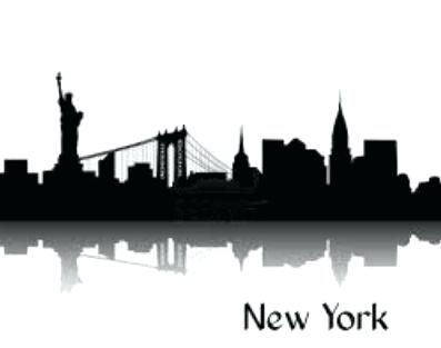 397x313 Nyc Skyline Silhouette Nyc Skyline Silhouette Twin Towers