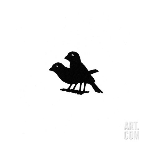473x473 Two Birds On Title Page, Waiting For Crumbs Giclee Print By Mary