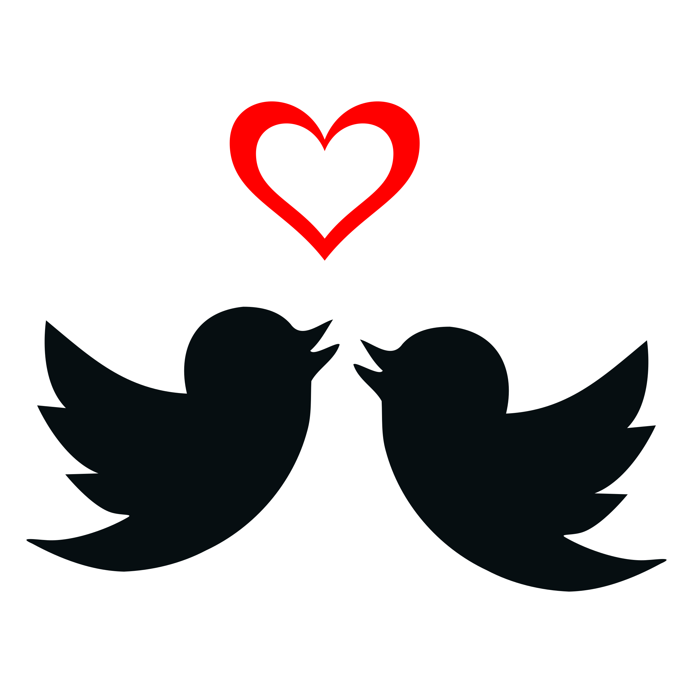 2400x2400 Two Lovebirds And Valentine's Day Heart Vector Clipart Image