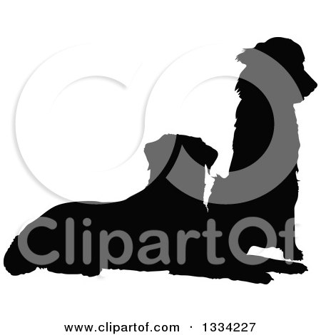 450x470 Royalty Free (Rf) Clipart Of Silhouetted Dogs, Illustrations