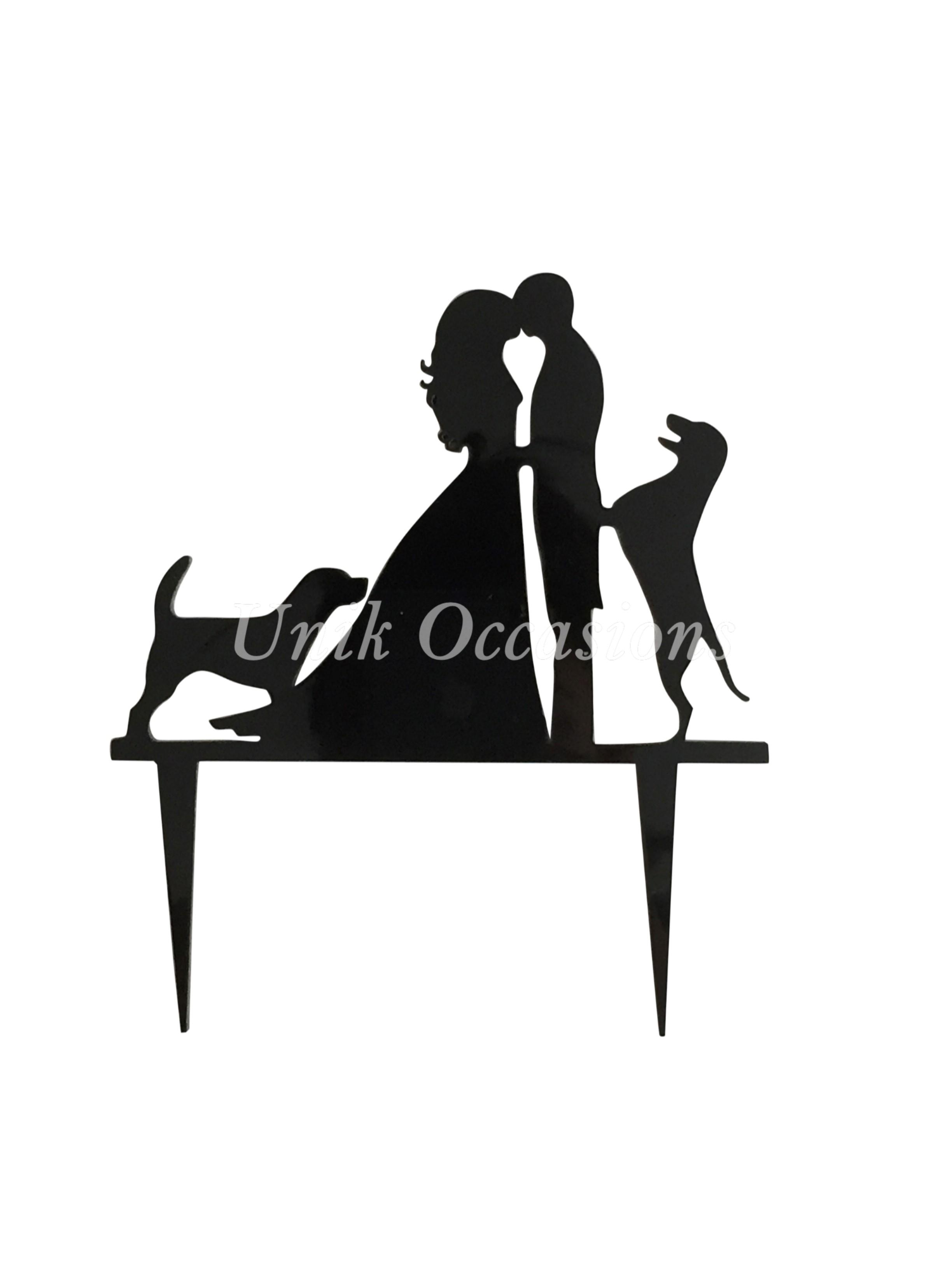 2448x3264 Black Unik Occasions Bride Groom And Two Dogs Silhouette Cake