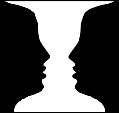 390x370 This Picture Of A Vase Or Alternatively Of Two Faces Illustrates