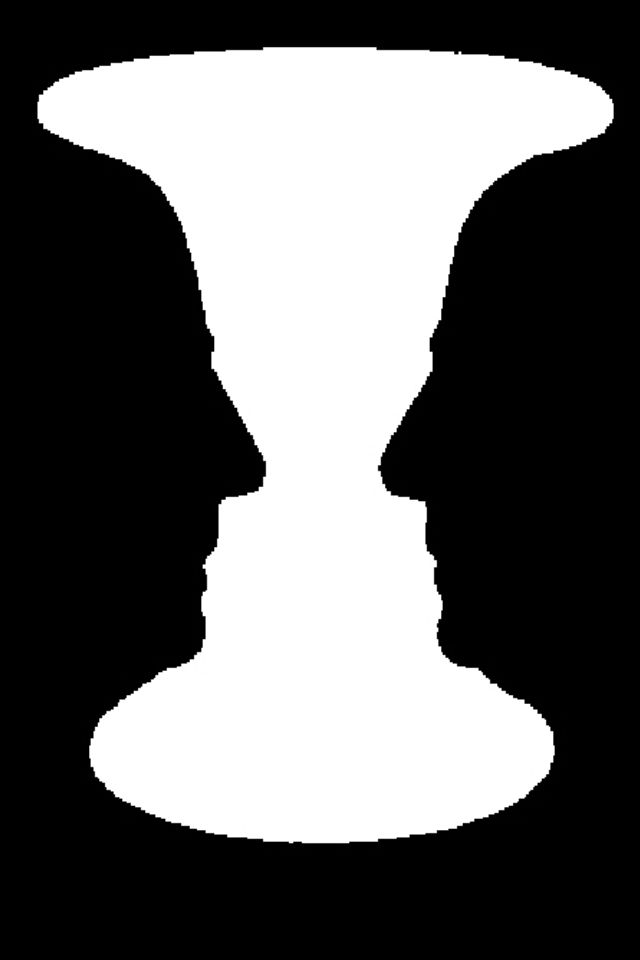 640x960 Optical Illusion A Goblet Or Two Faces Illusions