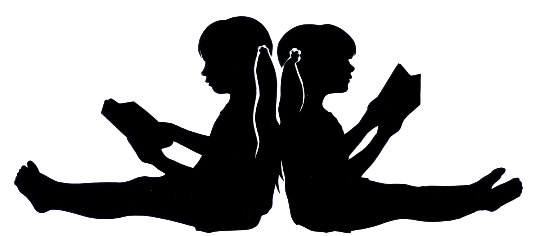 540x236 Custom Silhouette Of Two Children Reading Back To Back Not