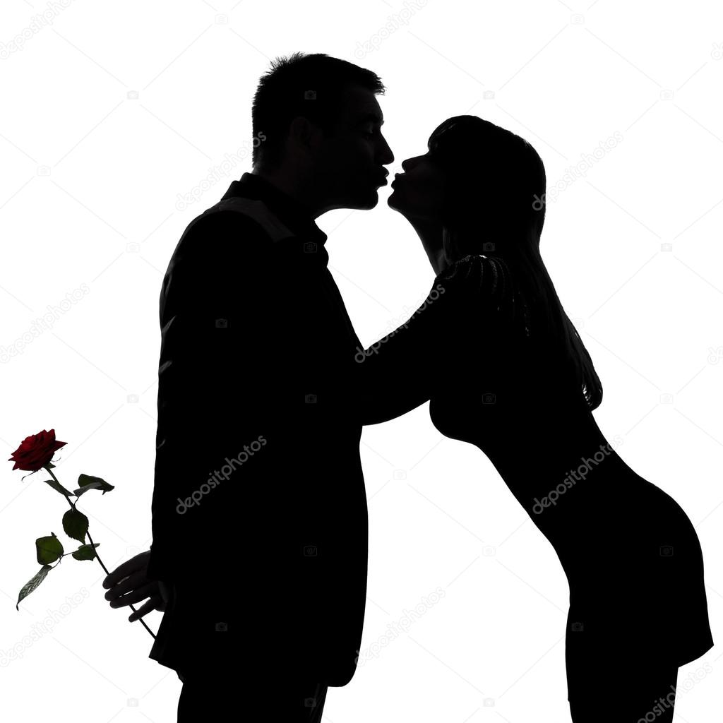 1024x1024 Man And Woman Kissing Silhouette