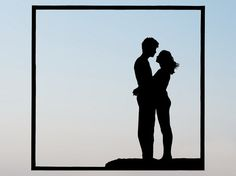 236x176 Two People Hug Silhouette Clipart Collection