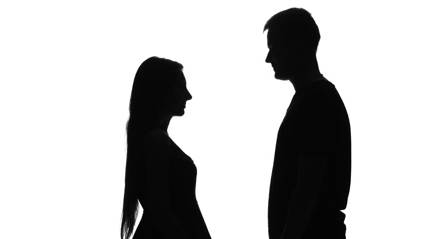 852x480 Silhouette Happy People Casual Dressed Enjoying Dancing Together