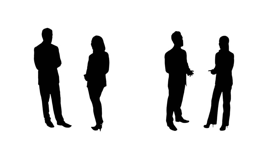 852x480 Silhouette Of Two Women Talking Amp Teenage Boy Waiting For His