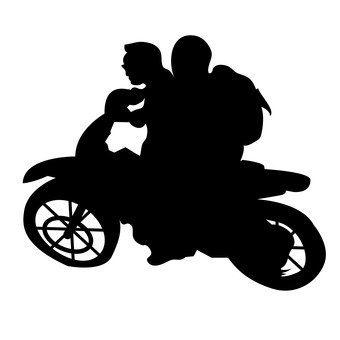 340x340 Free Silhouette Vector 2 People, Icon