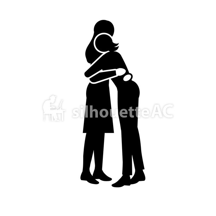 750x750 Free Silhouette Vector 2 People, Talk, Icon