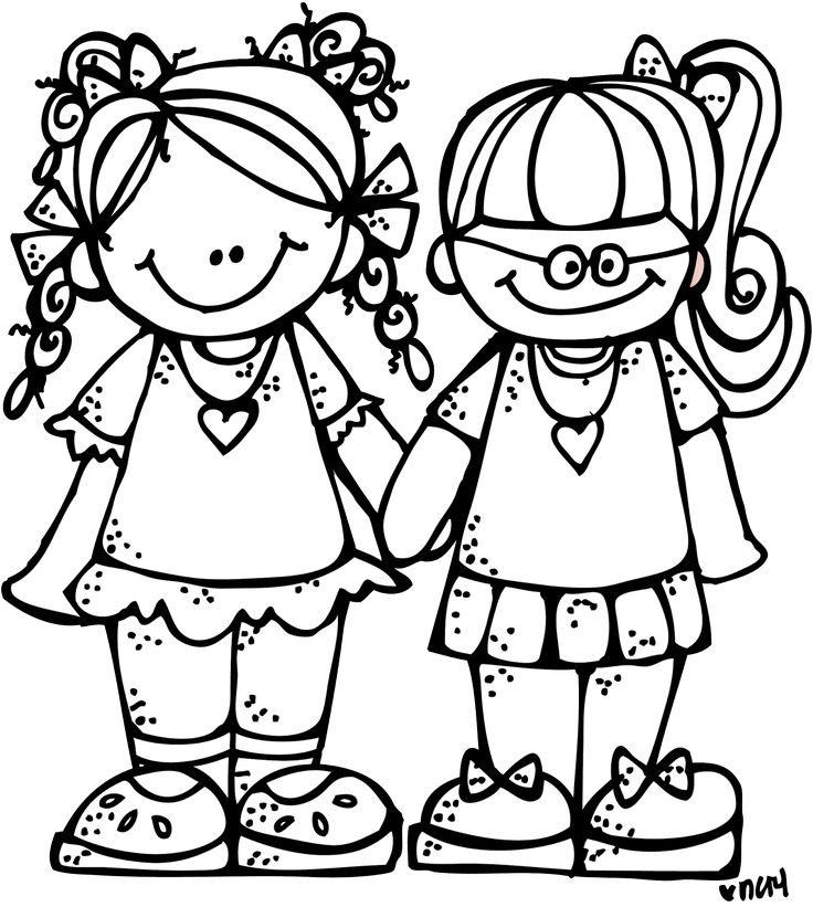 736x821 Two Sisters Clipart Black And White