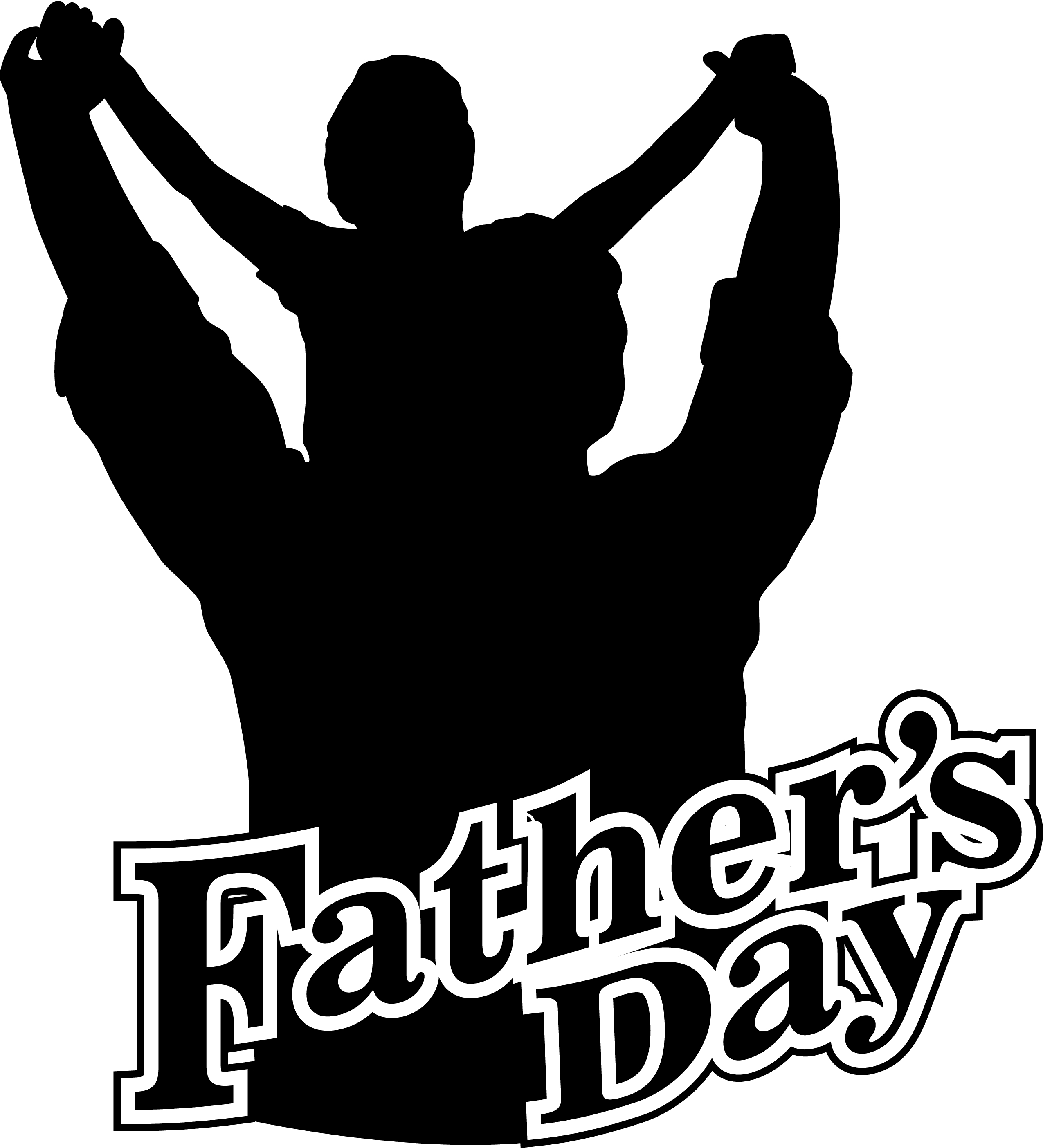 2550x2808 Fathers Day Silhouette Clipart