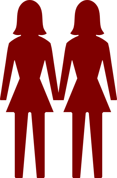 396x599 Two Women Clip Art
